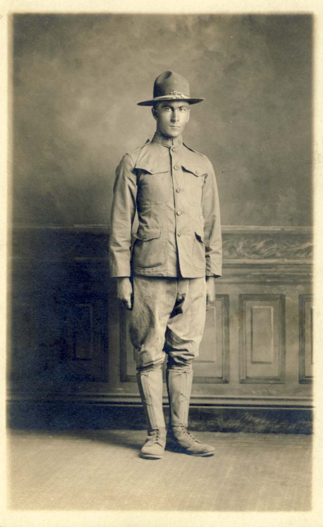 Edwin Berg, 77 Infantry, Camp Custer, Michigan photograph
