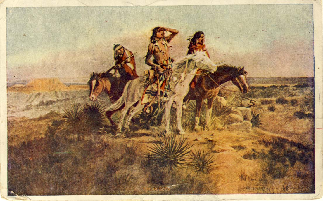 The scouts, postcard 1910