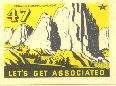 Tide Water Associated Oil Company, western stamp,  1938