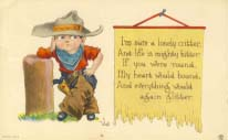 I`m sure a lonely critter. Valentine. 1912